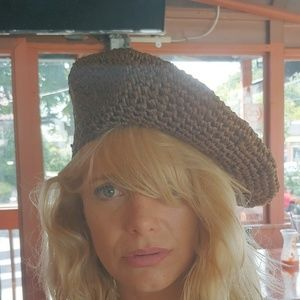 Vintage Straw Beret made in Italy for Bloomingdale
